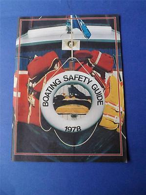 Boating Safety Guide Booklet 1978 Transport Canada Coats Guard Navigation