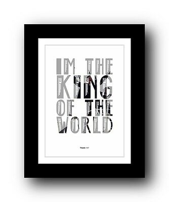 TITANIC ❤ Typography movie quote poster art limited edition print #107