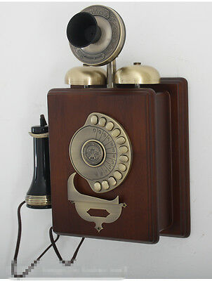 European retro wall phone 1909 wall-mounted antique telephones Antique telephone