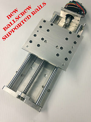 "CNC Z axis Slide 7.75"" travel IDEAL for big ROUTER ballscrew and supported rails"