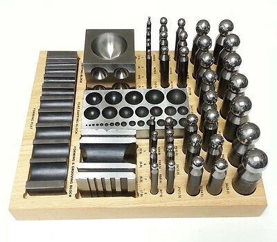 40 PC Doming Dapping Set Punch Block Jumbo Jewelry Forming Tool Set DPS40