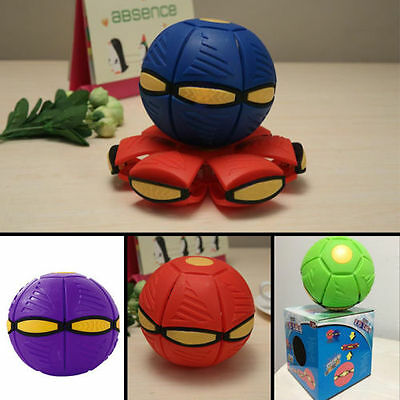 Outdoor Flying UFO Flat Silicone Novelty Throw Disc Deformed Kids Ball Frisbee