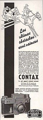 1937 Vintage Ad Zeiss Ikon Photo Camera CONTAX