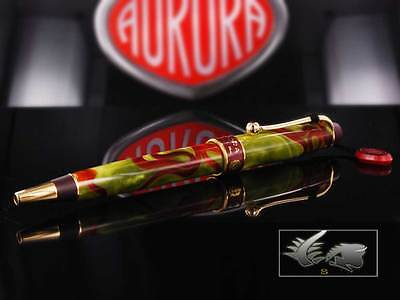 Aurora Asia Ballpoint Pen, Limited Edition, Marbled resin, Gold trims, 534