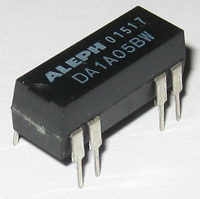 Aleph 5V Coil 0.5 Amp Relay Rated at 200 VDC - Small 5 V DC PC Mount DIP Relay