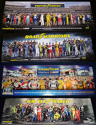 Nascar Goodyear Poster Class Of 2016 13 14 15 & 16 Set Of 4 Posters New Rare