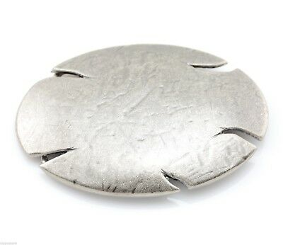 Worn and Chipped Style Oval Blank Metal Belt Buckle
