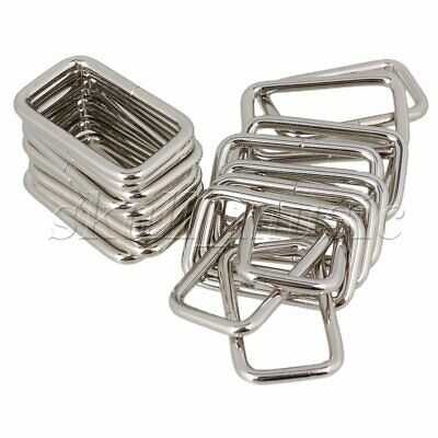 20pcs 3.8cm Silver Metal Heavy Rectangle Rings for Handbags & Bags