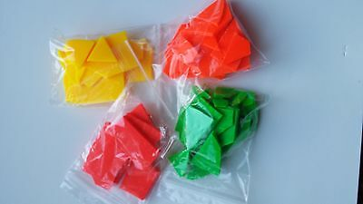 Candle wax dye 4 x 10 gram packs of fluorescent wax dye for soy / paraffin wax.