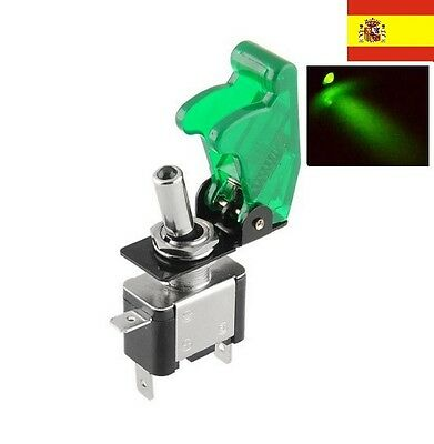 DC 12V 20A LED Verde Luz Toggle Switch Control Interruptor ON/OFF Coche ref16