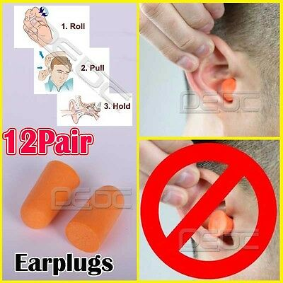 eyl 12 Pairs Foam Soft Ear Orange Noise Reduction Defenders Enchufe De Oído Sle