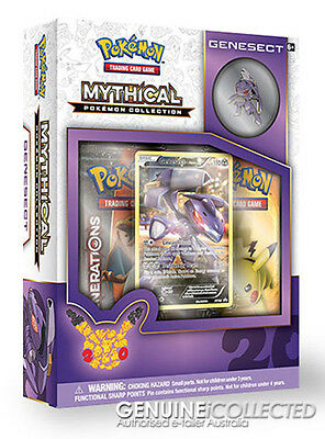 Mythical Genesect Pokemon Collection Box | 2 x Generations Booster Pack Cards
