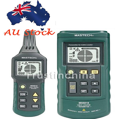 AU LOCAL Mastech MS6818 Wire Cable Metal Pipe Locator Detector Tester t