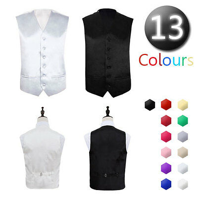 "Mens Wedding Formal Waistcoat Size 36""- 48"" Chest Available S M L XL XXL XXXL"