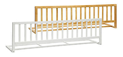 Wooden Bedrail FLAMO white or beech 4.6 ft - 140 cm Child Bed Baby Guard Safety