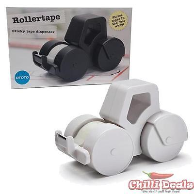 Desktop Road Roller Scotch Sticky tape Roll Dispenser Box Office Home Desk Gift