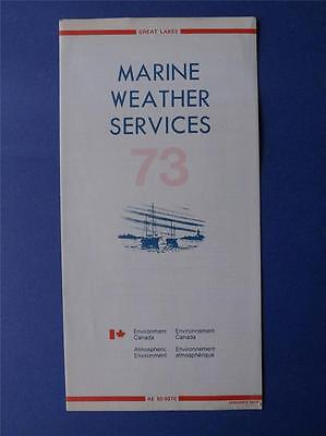 Marine Wather Services Information Flyer Vintage January 1973 Environment Canada