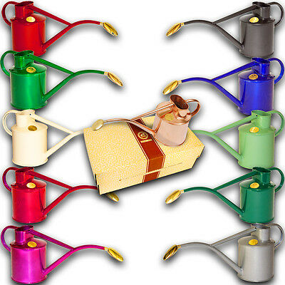 Haws 1 Litre Metal Indoor Watering Cans Oval Brass Rose Gifted Various Colours