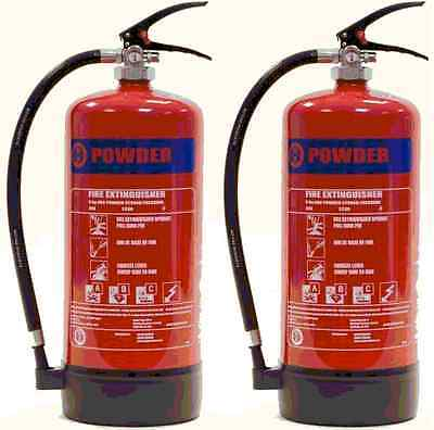 New, Budget, Pack Of 2, 9Kg Abc Dry Powder Fire Extinguisher - Moyne Roberts