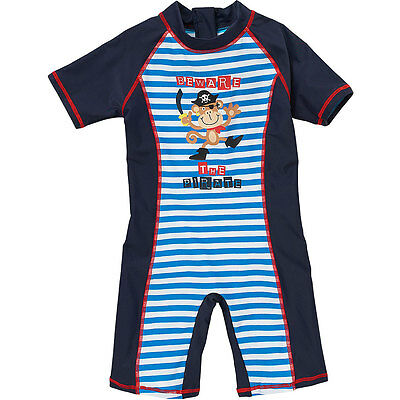 H2O Little Pirate Monkey Sunsafe UPF40+ Baby Boys All In One Piece Suit 6-23m