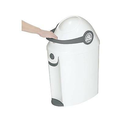Baby Trend Diaper Champ Deluxe Diaper Pail -Grey/White