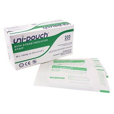 Unipouch Sterilization 90X135mm W/ Ind. Strips 200/Box