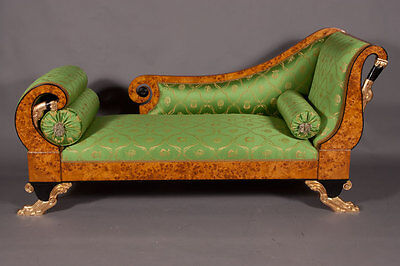 J-Sam-1 Empire Swans Chaise Longue Sofa Lounger Couch Classicism Style