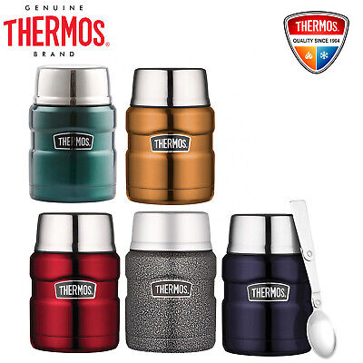 Thermos STAINLESS STEEL Vacuum Insulated Food Jar Container 470ml With Spoon