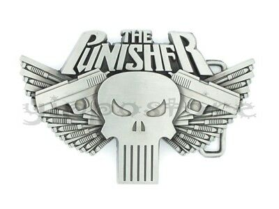 Punisher w/ Guns Metal Belt Buckle