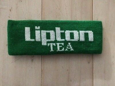 Vintage Huge Headband!  Lipton Tea! Green And White! 3 Inches Tall!