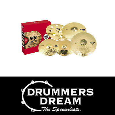 "Brand New SABIAN HHX Evolution Cymbal Pack 14""  16"" 20"" +18"" Crash - Cymbal Set"