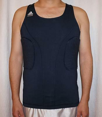 cefad9d819c000 NWT Adidas Techfit ClimaCool Mens GFX Padded Compression Tank Top - Navy