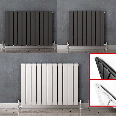 Designer Radiator Flat Panel Oval Column Towel Rail Tall Upright Central Heating