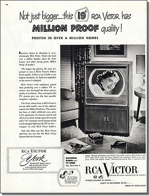 1950 RCA Victor Television in a Million Homes - The York Model print-ad