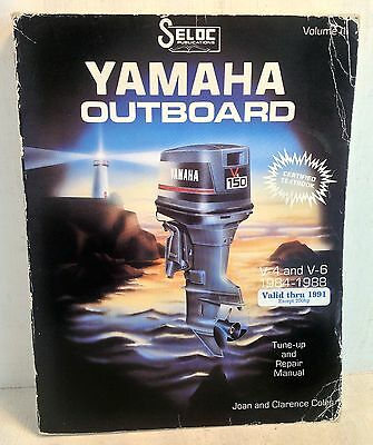 Yamaha Outboard V-4 & V-6 1984-1988 Tune-up & Repair Manual Seloc Vol III (3552)