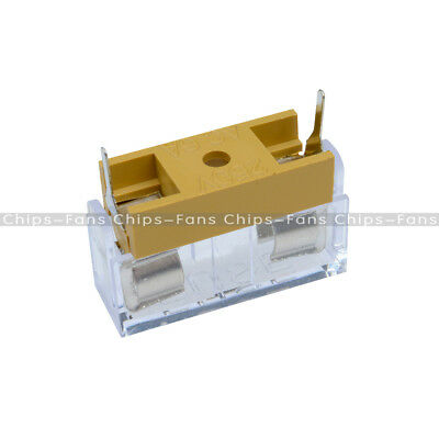 10pcs/Set Soldering Panel Mount PCB Fuse Holder Case with Cover 5x20mm 250V 6A