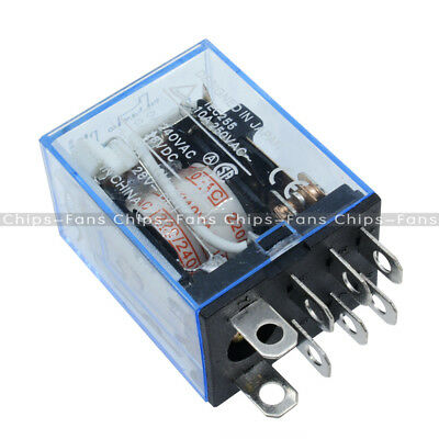 LY2NJ AC 200V/220V 10A 240VAC 28VDC 8-PIN Power Relay Coil UK