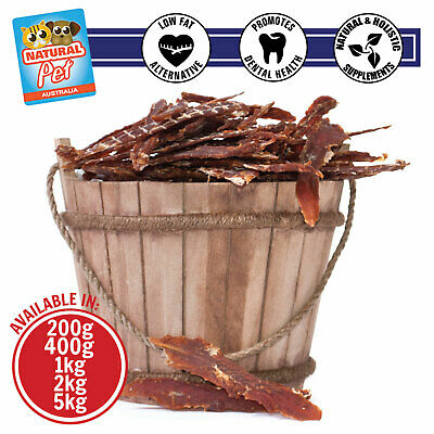 Duck Breast Jerky Fillet Strips Natural Dehydrated Dog Treats Hypoallergenic