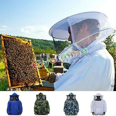 Beekeepers Bee Suit Beekeeping Leather Ventilated with Fencing Veil Smock HOT