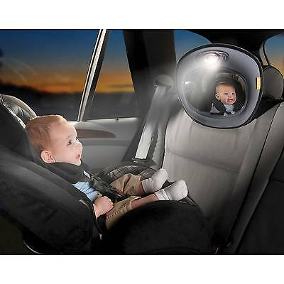 Brica Day & Night Light Musical Auto Mirror for in Car Safety - Gray