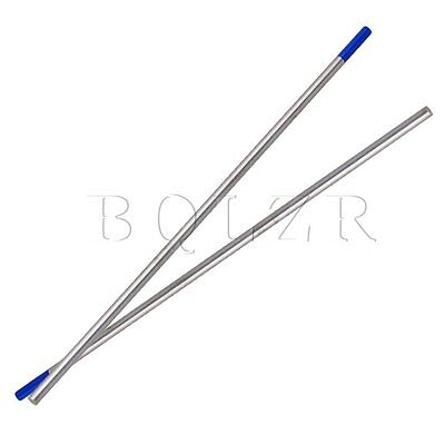 10 Pieces Blue  Model WL20 Tig Tungsten Electrode Lanthanated 2% 3.2mm x150mm