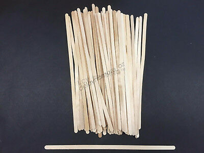 1000 Wooden Coffee Tea Stirrers Stirrer Waxing Craft Paddle Pop Sticks Cafe Shop