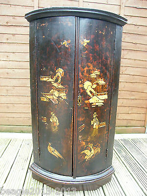 Antique Chinoiserie Oak Corner Cabinet Cupboard Late 1700S Early 1800S