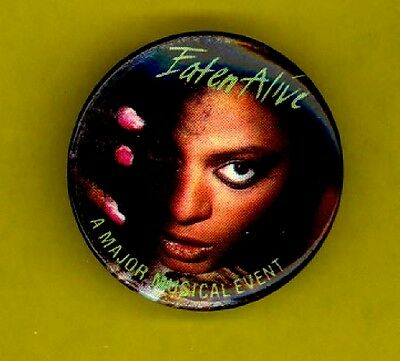 Diana Ross 1985 OFFICIAL Eaten Alive pinback button badge G