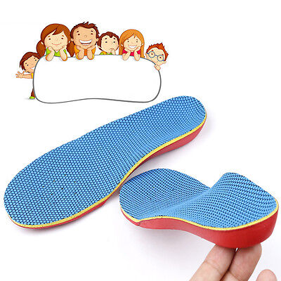 Orthotic Shoes Insoles Insert Arch Support Pads Flatfeet Pain Relief for Kids S5