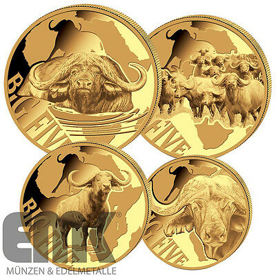 Kamerun - 8.500 Francs 2016 - Buffalo Big Five-Serie - 4 Werte - Gold in PP