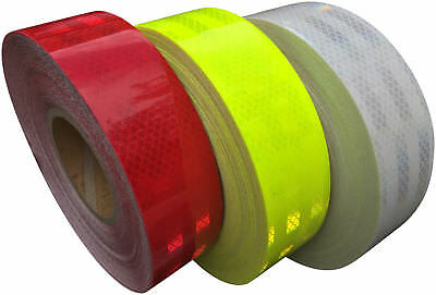 High Visibility Intensity 5 Year Reflective Tape 50mm wide Various Colour/Length