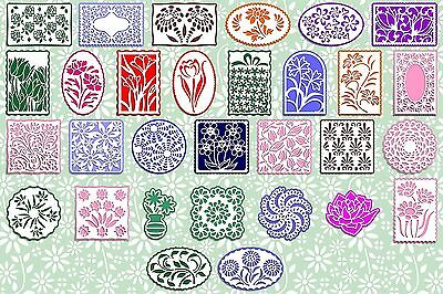 Brother ScanNCut Floral & Mat templates CD1030