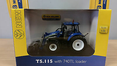 UH4274 New Holland T5.115 with 740TL Loader Universal Hobbies Model Tractor 1:32