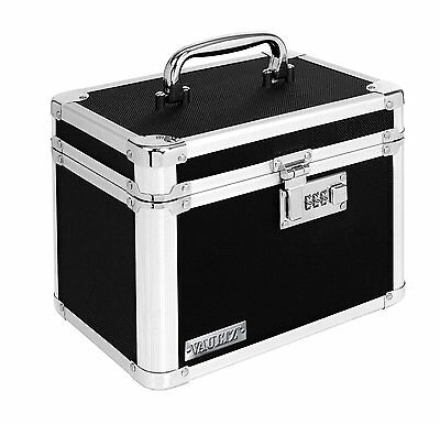 Vaultz Personal Security Locking Box Small Portable Safe Box 7.75x7.25x10 Inches